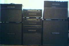 Wall Of Matchless Amps-Cabinets
