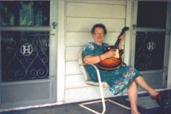 My Grandma With 1958 Gibson Sunburst Les Paul.